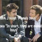 "Урок по A J Hoge ""Mama's boys"""
