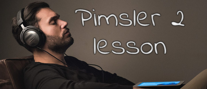 Пимслер 2 урок