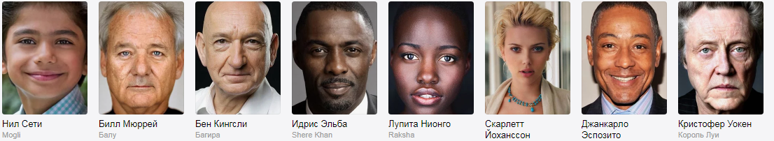 Актеры озвучившие Книгу Джунглей 1996