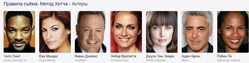 Правила съема: Метод Хитча (2005) актеры